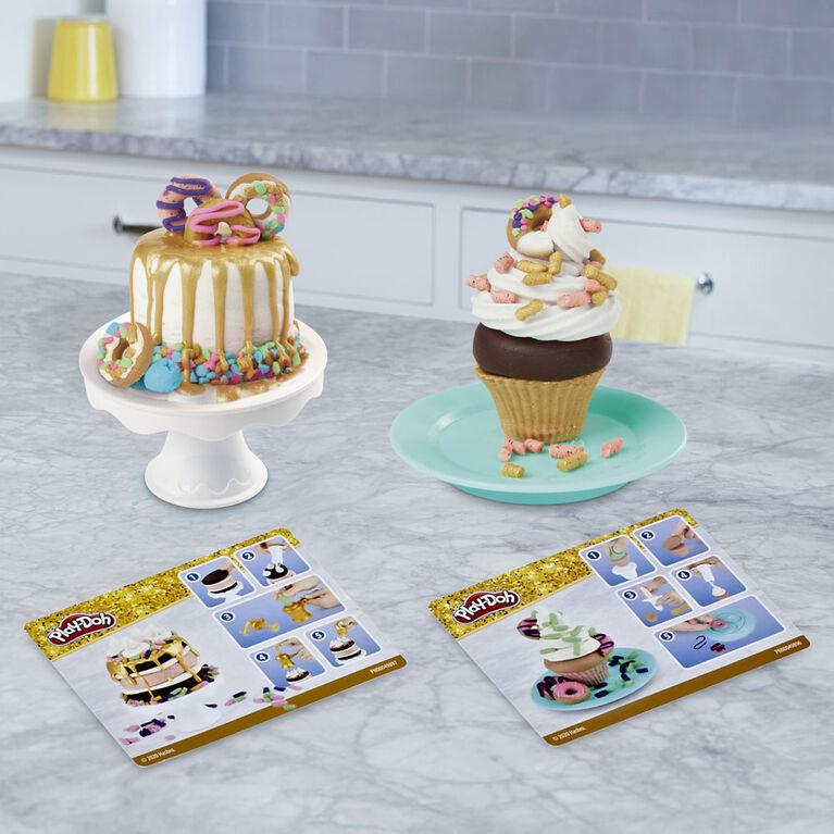 Play-Doh collection dorée, jeu Pâtisseries dorées - Notre exclusivité