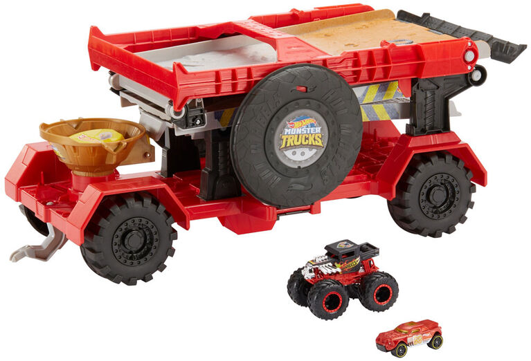 Hot Wheels - Monster Trucks - Coffret de jeu Course De Descente