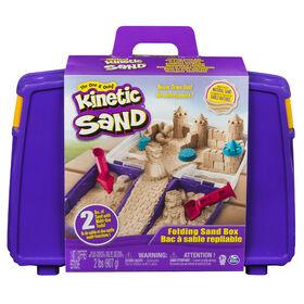 Kinetic Sand – Bac à sable repliable avec 907 g de Kinetic Sand