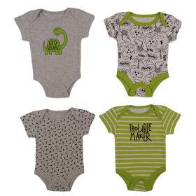 Koala Baby 4-Pack Bodysuit - Green, 6-9 Months