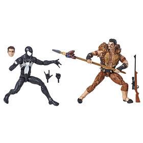 Spider-Man Legends Series: Symbiote Spider-Man & Kraven The Hunter Figure 2-Pack - R Exclusive