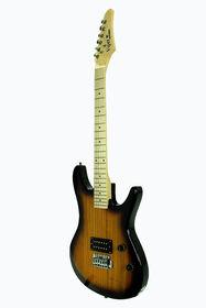 Guitare électrique Viper de Bridgecraft en érable pleine grandeur avec accessoires - Explosion de tabac