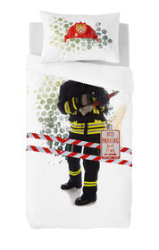 Gouchee Design - Fireman Digital Print Twin Duvet Cover Set