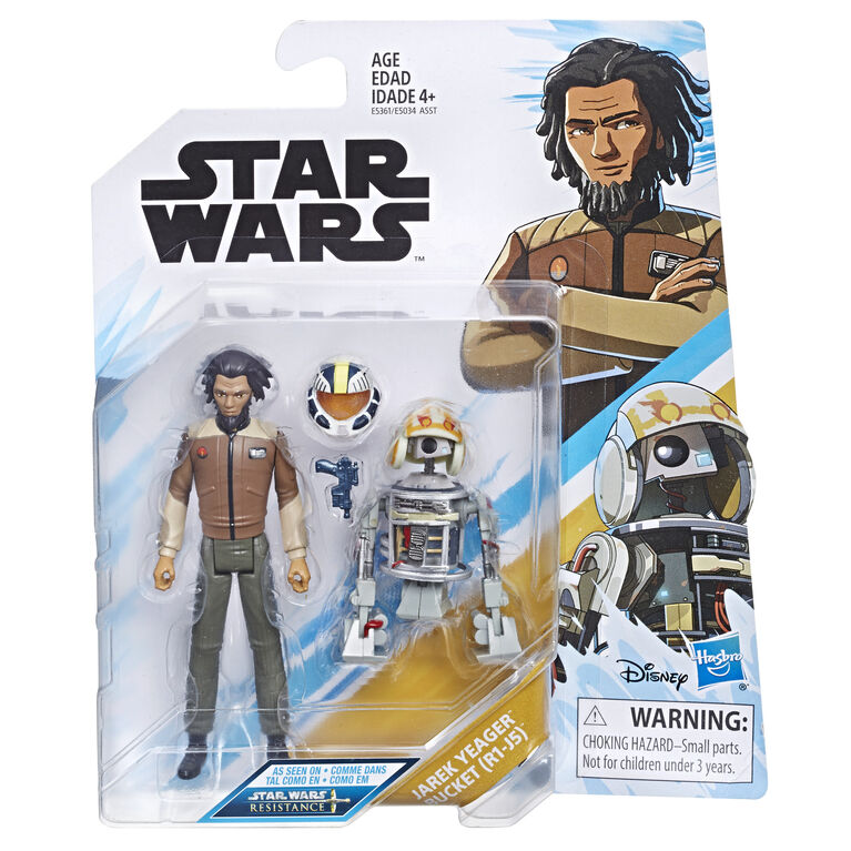 Star Wars Star Wars: Resistance Animated Series 3.75-inch Jarek Yeager and Bucket (R1-J5) Figure 2-Pack