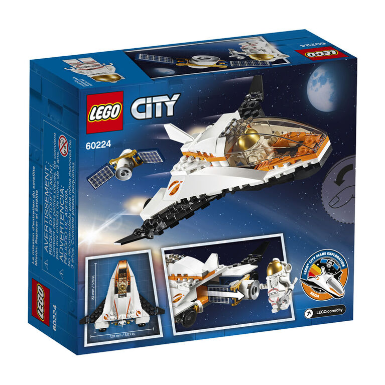 LEGO City Space Port La mission d'entretien du satellite 60224
