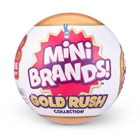 5 Mini marques surprise Gold Rush ÉDITION LIMITÉE Mystery Capsule Real Mini Brands Collection Jouet par ZURU