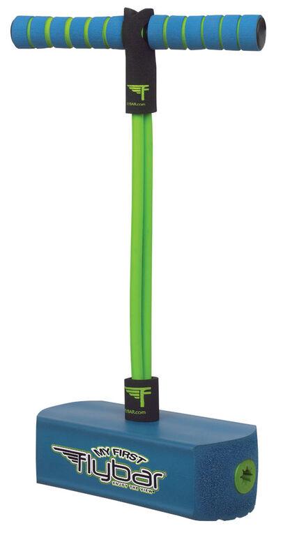 Flybar Mon Premier bâton de pogo en mousse pour les Enfants de 3 Ans et Plus (BLEU)