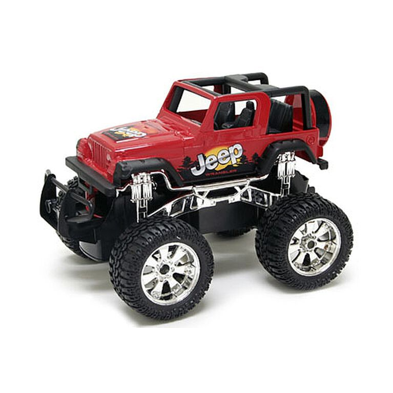 New Bright - 1:24 RC Hors route - Jeep Wrangler - Red.