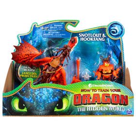 How To Train Your Dragon, Hookfang and Snotlout, Dragon with Armored Viking Figure