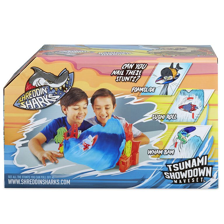 Jouet Shreddin' Sharks Tsunami Showdown pour figurines acrobatiques à collectionner.