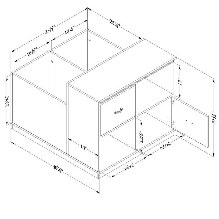 Mobby Mobile Storage Unit- Pure White