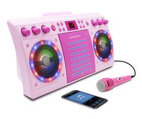 iKARAOKE Bluetooth CD+G Karaoke System, Pink  044423