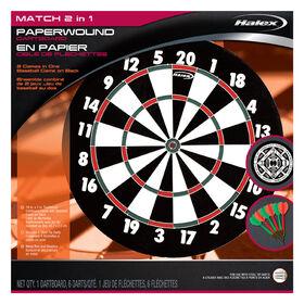 Halex 2 In 1 Paperwound Dartboard