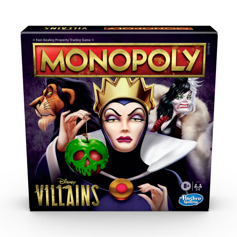 Monopoly: Disney Villains Edition Board Game, Play as a Classic Disney Villain - English Edition