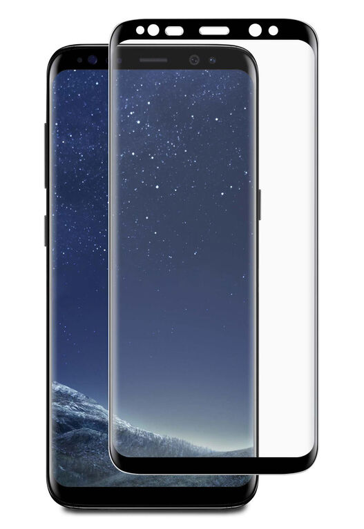 Blu Element 3D Curved Glass Case Friendly for samsung Galaxy S8+ Black (BTGGS8PCB)
