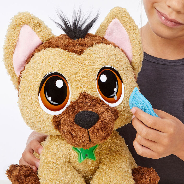 Animal en peluche Rescue Tales à adopter: Peluche berger allemand interactive - Édition anglaise