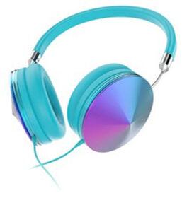 Art + Sound Iridescent Headphones with Mic, Blue