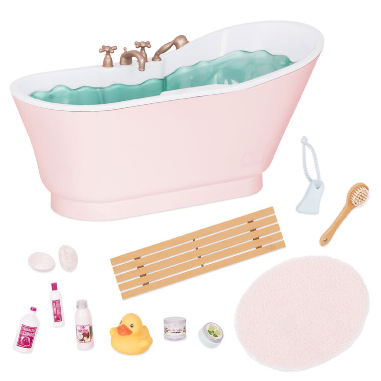 Our Generation, OG Bath And Bubbles Bathtub Playset with Water Sounds for 18-inch Dolls