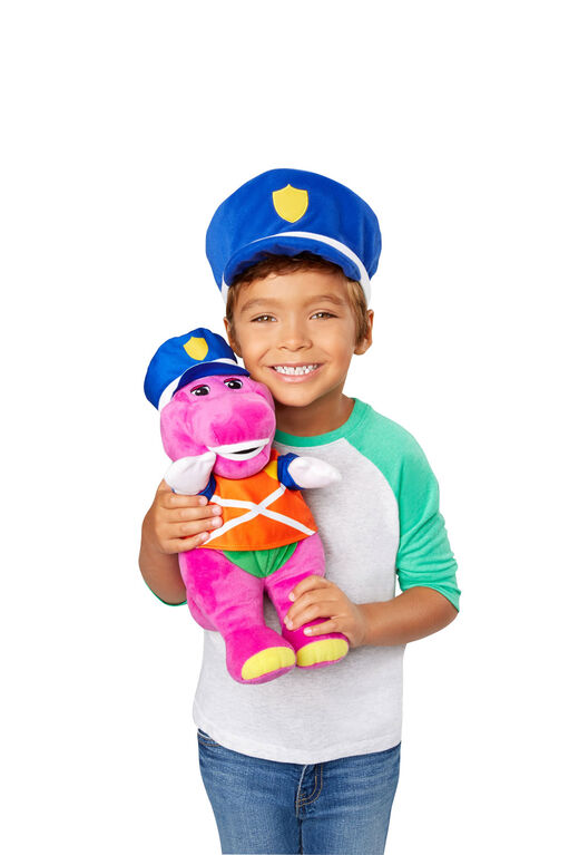 Fisher-Price Barney Police Hat & Figure - English Edition