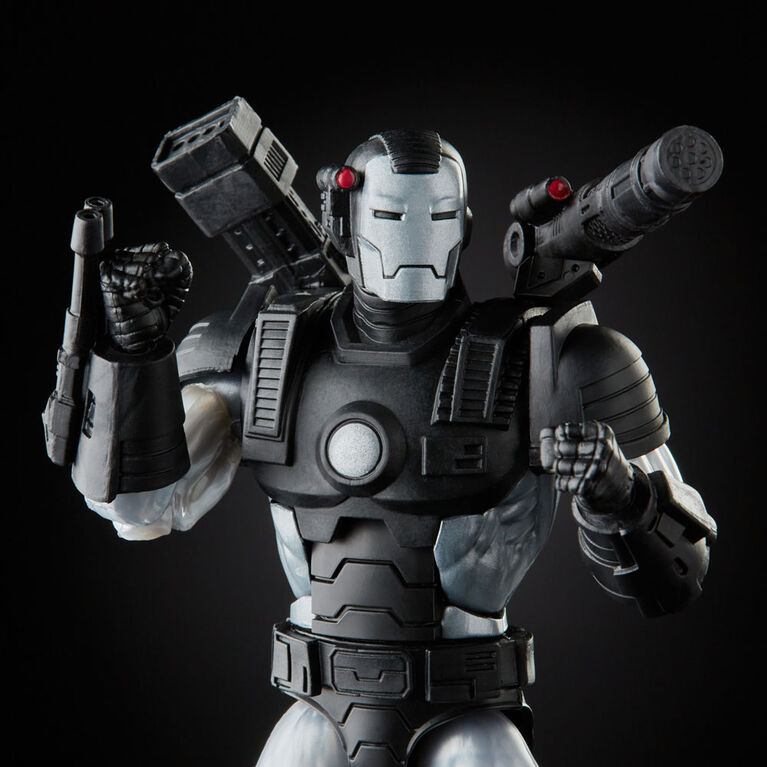 Hasbro Marvel Legends Series, figurine de collection deluxe Marvel's War Machine de 15 cm, design premium, 8 accessoires