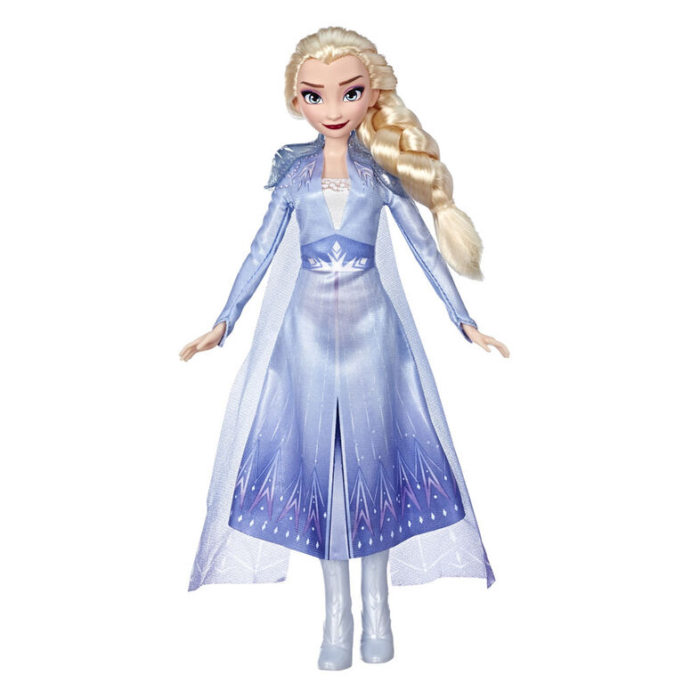 Disney Frozen - Elsa Fashion Doll With Long Blonde Hair and Blue Outfit
