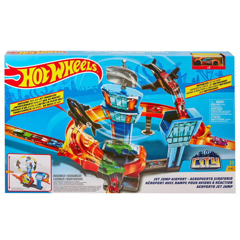 Hot Wheels Jet Jump Airport Playset