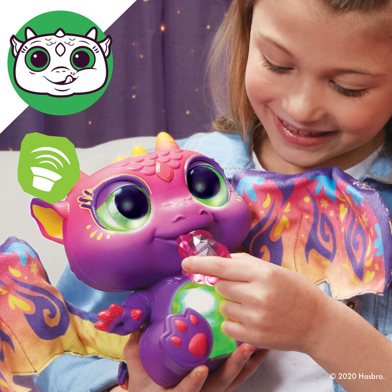 furReal, peluche interactive Bébé Dragon Moodwings, + de 50 sons et réactions