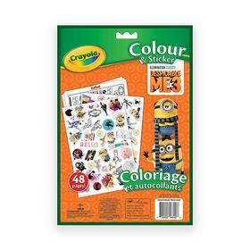 Crayola - Despicable Me 3 Colour & Sticker Book