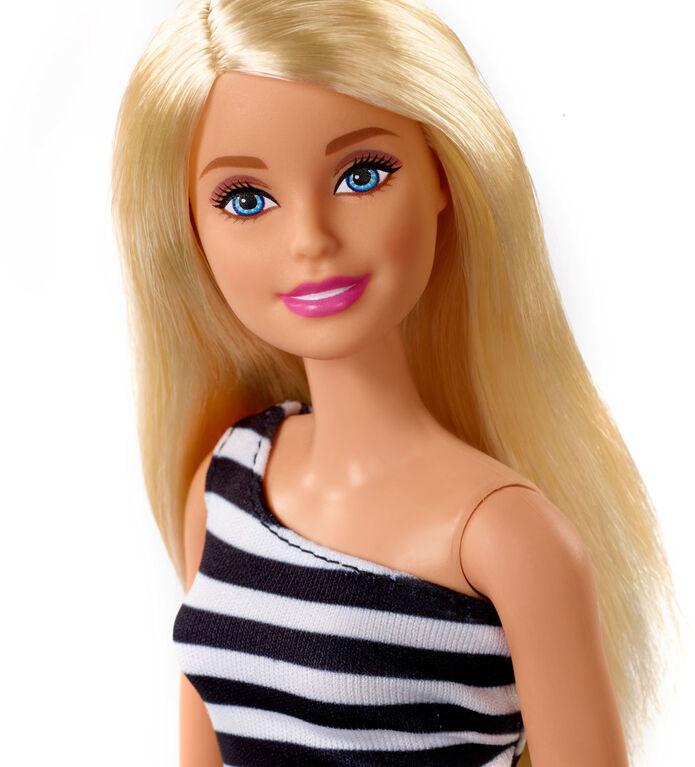 Barbie Poupée Glitz, Rayures Noires.
