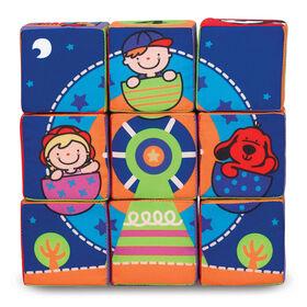 Melissa & Doug K - Ensemble de blocs mous pour enfants Match and Build