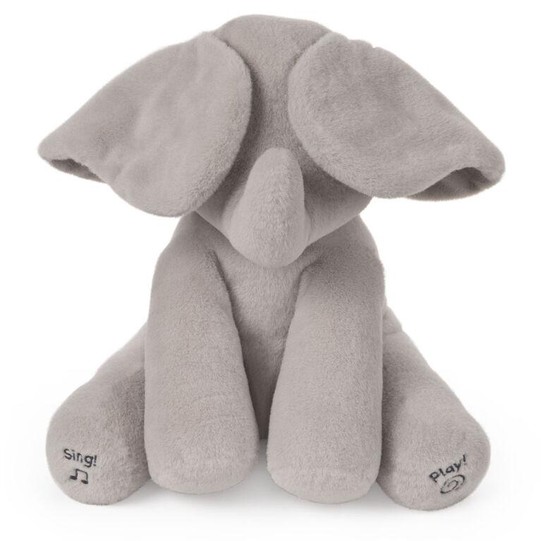 Baby GUND, Peluche animée Flappy l'éléphant, gris, 30,5cm