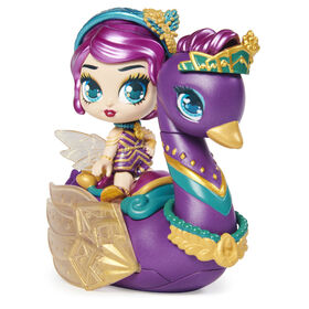 Hatchimals Pixies Riders, Lilac Luna Pixie and Swanling Glider Hatchimal Set with Mystery Feature