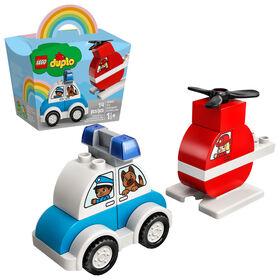 LEGO DUPLO L'hélicoptère des pompiers et la voiture 10957