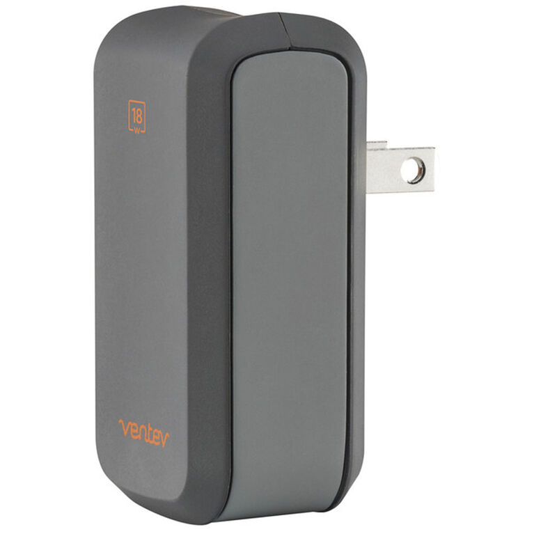 Ventev Chargeur Mural Wallport Power Delivery Single USB-C 18W Gris