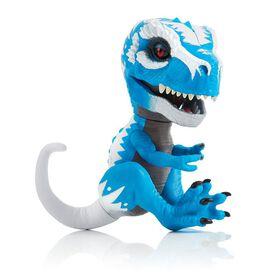T-Rex sauvage par Fingerlings-Bébé Dino T-Rex-Ironjaw (Bleu)-Dinosaure interactif à collectionner-par WowWee.
