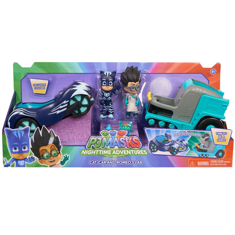 PJ Masks Hero vs Villain Vehicles - Catboy & Romeo