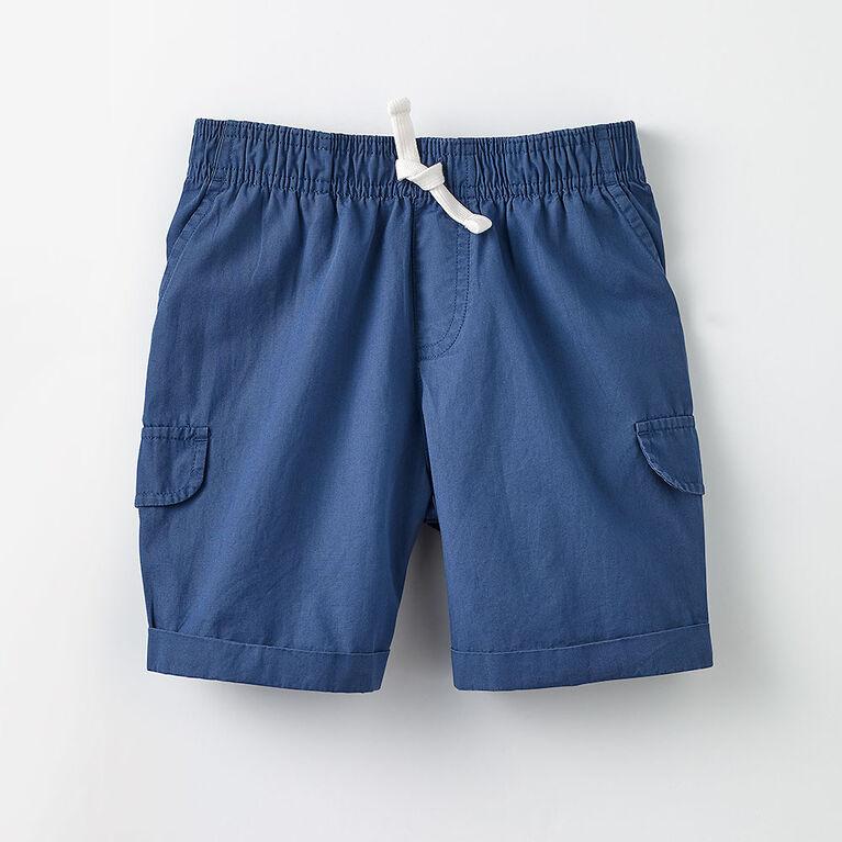 woven adventure short, 2-3y - dark blue