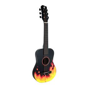 Concerto-Guitare Acoustique De 76 Cm - Flamme Noire - Exclusif