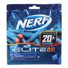Nerf Elite 2.0 20-Dart Refill Pack -- 20 Official Nerf Foam Darts For Nerf Elite 2.0 Blasters