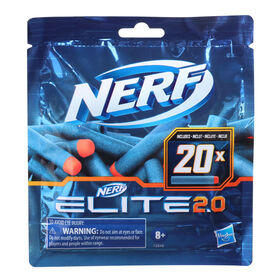 Nerf Elite 2.0 20-Dart Refill Pack -- 20 Official Nerf Foam Darts For Nerf Elite 2.0 Blasters
