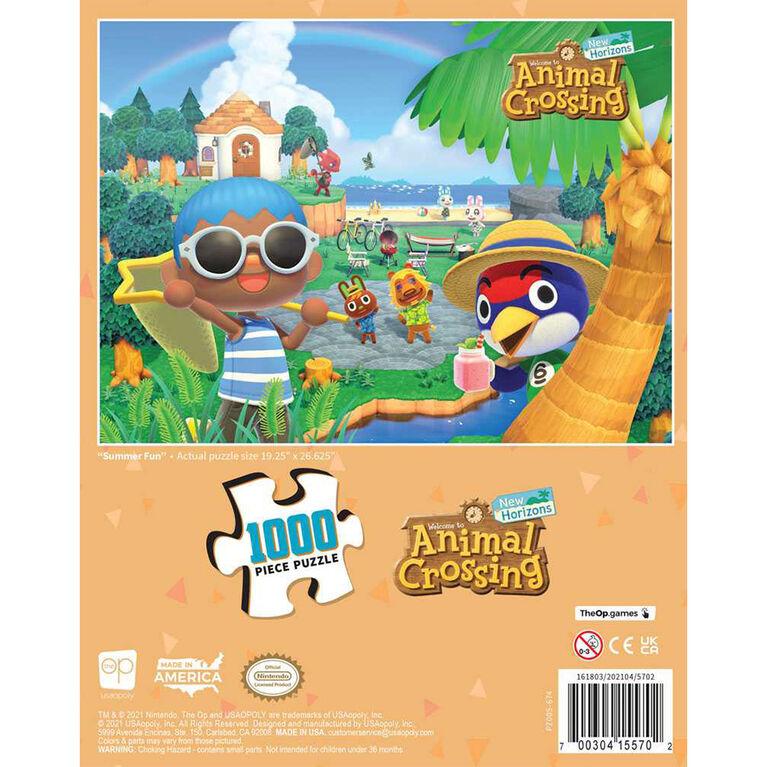 "Animal Crossing ""Summer Fun"" 1000 Piece Puzzle - English Edition"