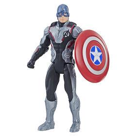 Marvel Avengers : Phase finale - Figurine Captain America de 15 cm avec costume d'équipe.