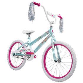 Avigo - Vélo Glitter - Bleu cristal de mer, 20 pouces.