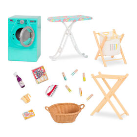 Our Generation, Tumble & Spin Laundry Playset for 18-inch Dolls
