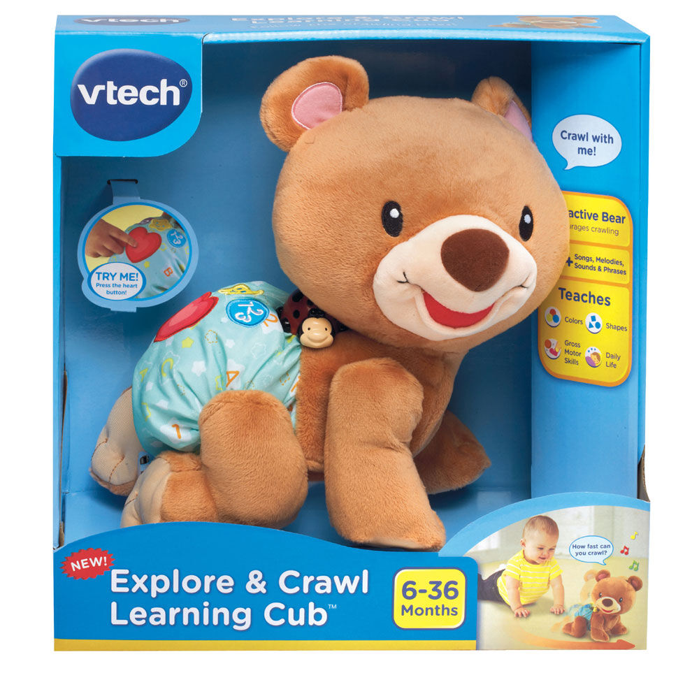 Baby Explore and Crawl Learning Cub VTech Developmental Toy Interaction Colors