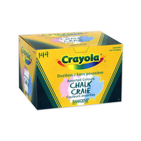 Crayola Dustless Coloured Chalk, 144 ct