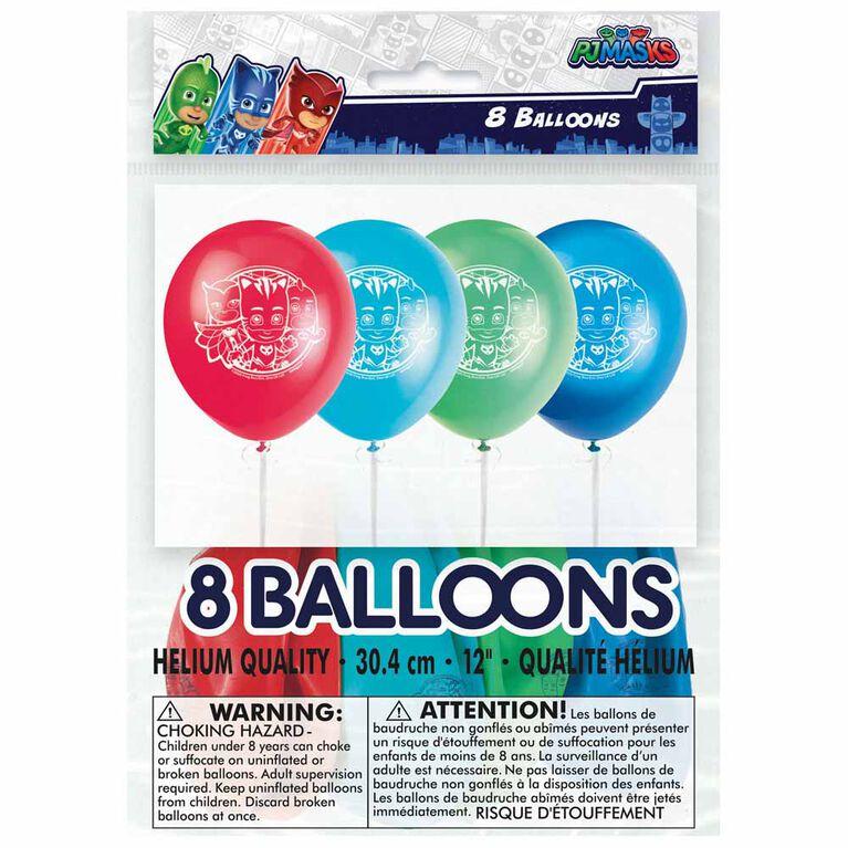 """PJ Masks 12"""" Ballons, 8un"""