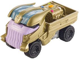 Hot Wheels - Marvel - Véhicule Flip Fighters - Thanos - Les styles peuvent varier.