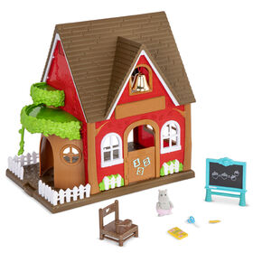 Li'l Woodzeez, Woodland School House Playset with Accessories - styles may vary