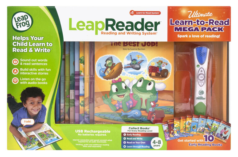 LeapFrog LeapReader Learn to Read Mega Bundle, System and Book Set - English Version